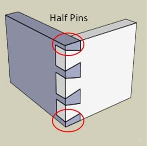 half pins