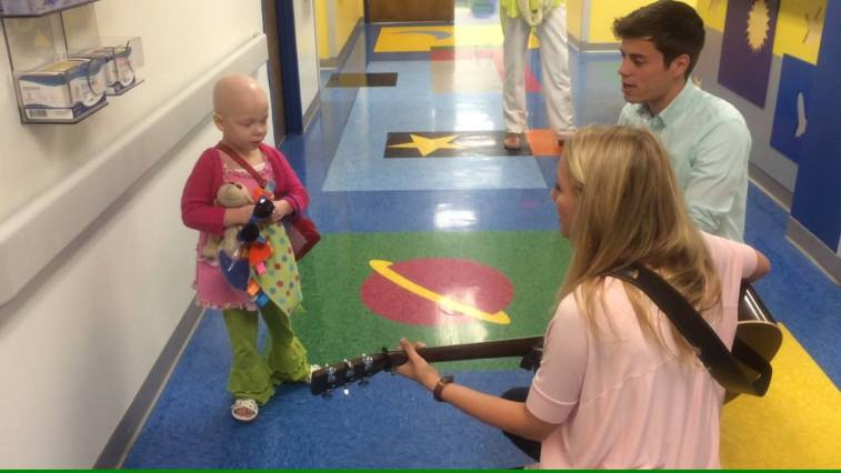 Lawson Bates Official & Emily Ann Roberts Music got to sing for the kids…