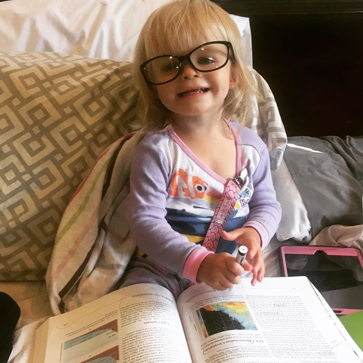If glasses or high heels are sitting around, little Brookie will put them to…