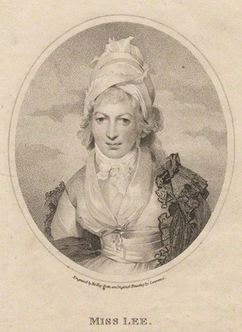 Sophia Lee, (image by engraver William Ridley, after Thomas Lawrence), images via Wiki Commons