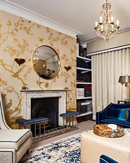 The De Gournay covered walls in the showroom