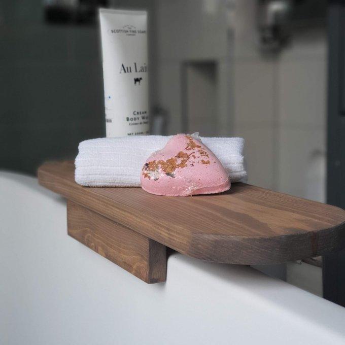 Wooden One Side Bath Caddy Bath Tray Bath Rack Bath Board One Rim Attaching Sides Bath Shelf Bath Tub Side Tray