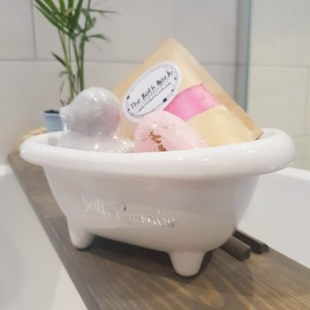 Bath Bombs Storage White Small Bath 1