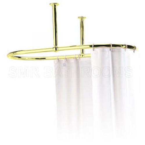 oval shower curtain rail with ceiling