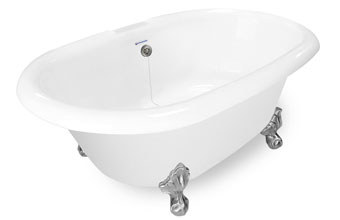 Dual Ended Clawfoot Tub Delilah 6638CF AI37AIR6638TO