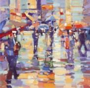 Wet Day Buchanan Street by Peter Foyle