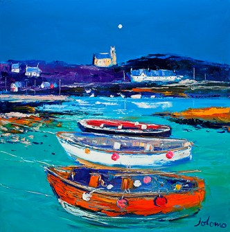 Church and Boats Arinagour Isle of Coll by Jolomo