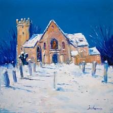 Heavy Snowfall Cramond Kirk by Jolomo