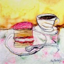 Tea and Cake Art Card by Moy Mackay