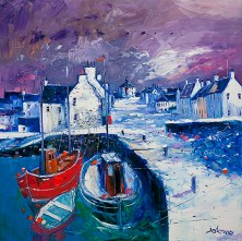 Snowstorm on the Round Kirk Bowmore Islay by Jolomo