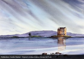 Reflection,_Castle_Stalker_-_Signed_Limited_Edition_Giclee_Art_Print_by_David_Graham