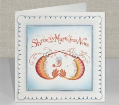 Shrimply Marvellous News New Arrival Greeting Card by Clare Mackie