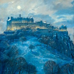 Moonlight Over Edinburgh Castle by Bob Lees