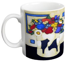 Summer Flowers in Beltie Jug Gift Mug by Fiona Millar