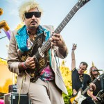 King Khan and the Shrines at Burger Boogaloo, by Jon Ching