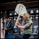 Robert Trujillo and Mike Dirnt at the Williams Sonoma Culinary Stage at BottleRock Napa 2017, by Patric Carver
