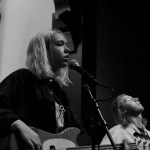 Lindsey Jordan of Snail Mail sitting in with Bonny Doon at the Swedish American Hall, by William Wayland
