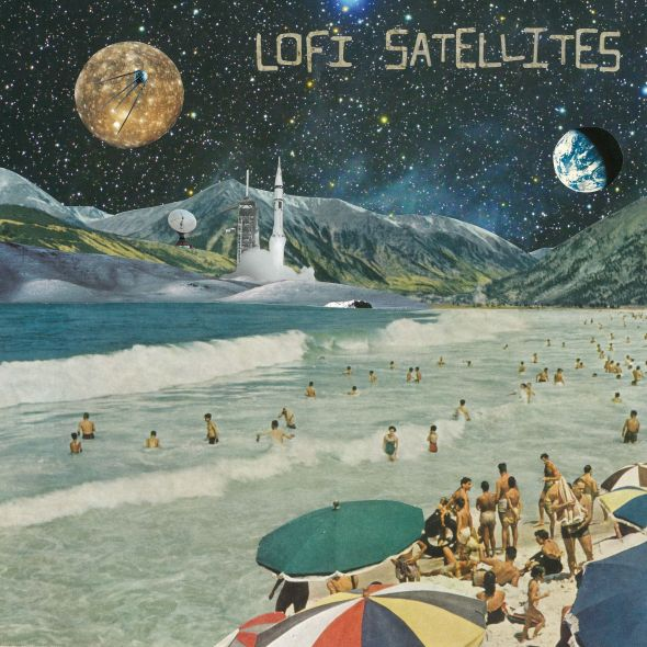 Cover art for LoFi Satellites self-titled EP created by Australian artist monk.
