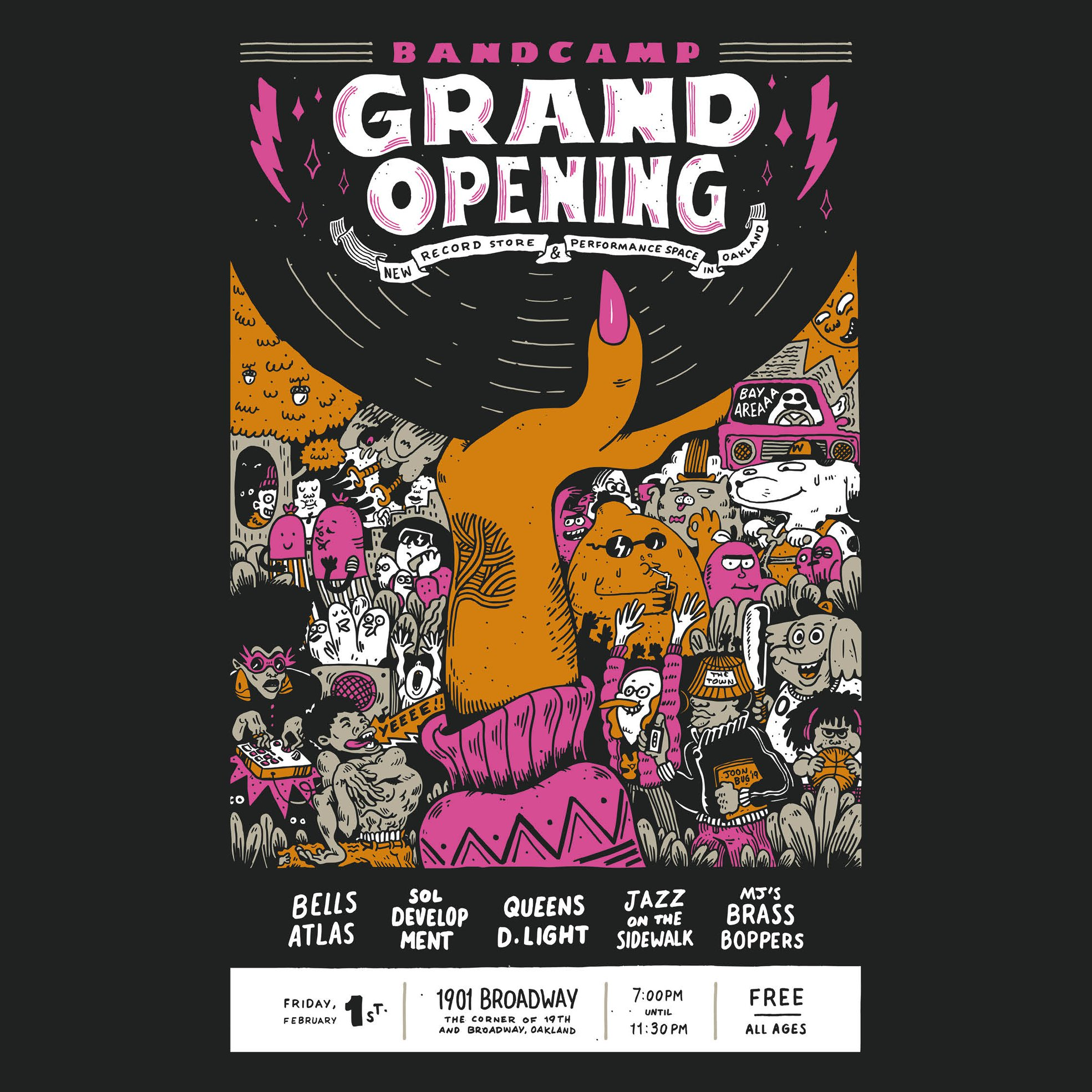 Bandcamp Grand Opening