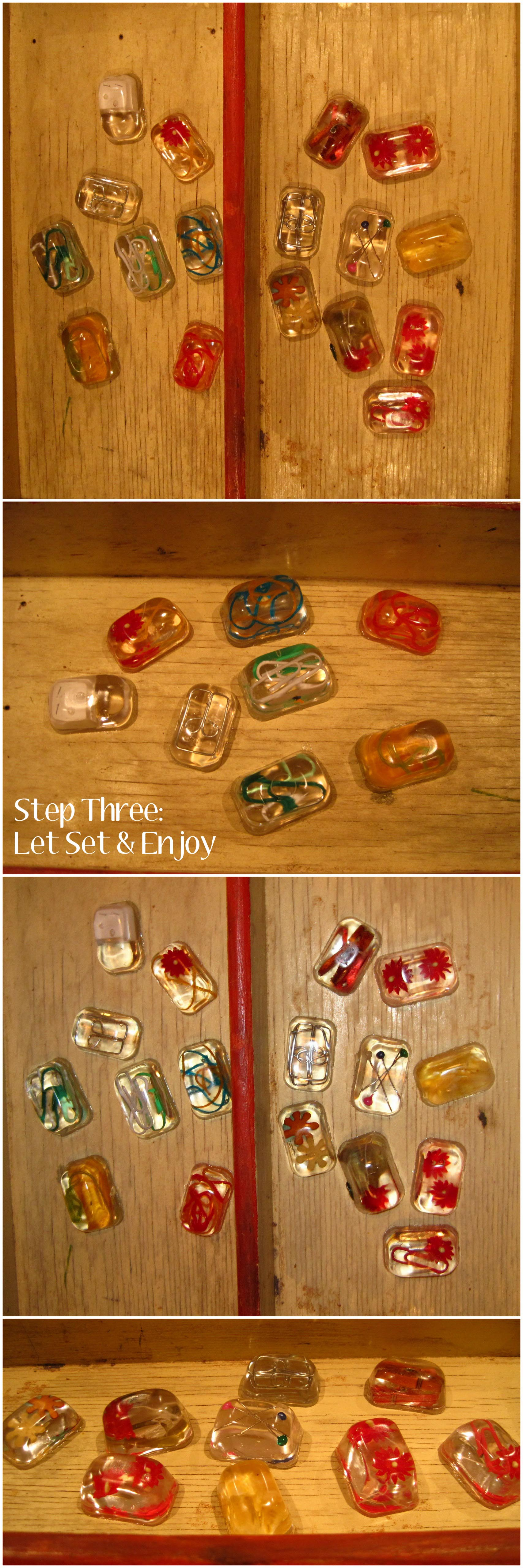 Ice Cube Resin Magnets
