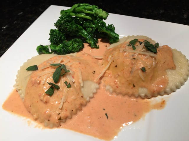 Heart Shaped Mushroom Ravioli with Vodka Sauce