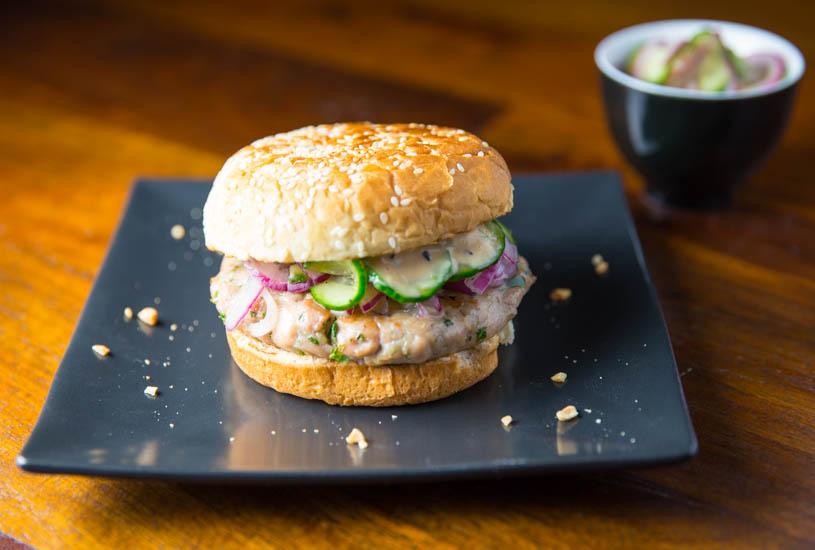 Big Green Egg Thai Chili Ginger Tuna Burgers - The BBQ Buddha