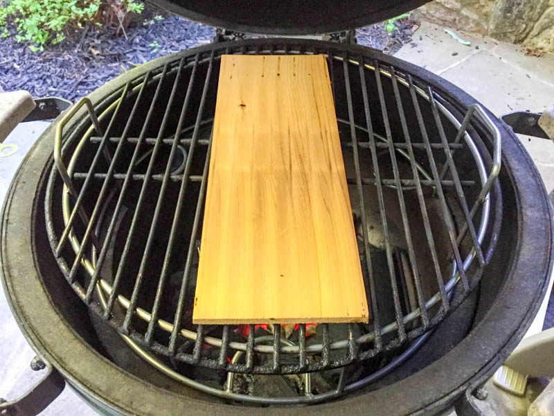 Big Green Egg Cedar Plank Miso Salmon