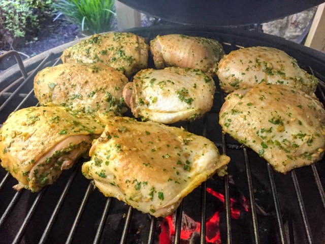 Big Green Egg Citrus Chicken Thighs