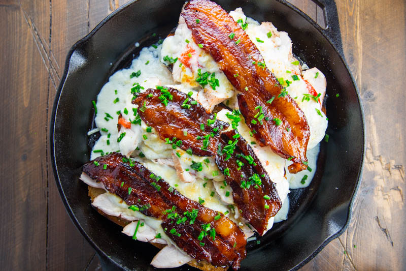 Grilled Kentucky Hot Brown