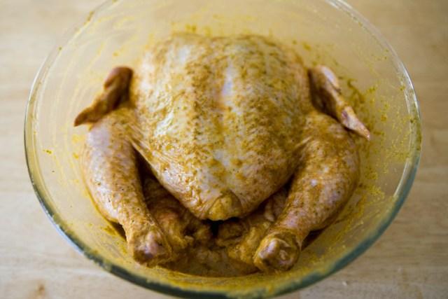 Kamado Style Peruvian Chicken