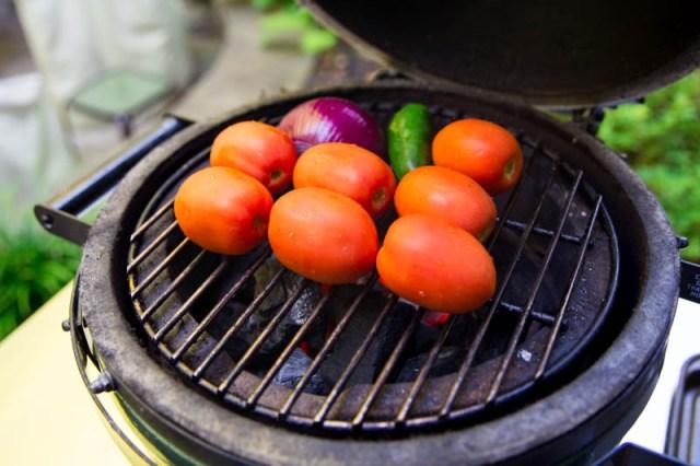 Kamado Style Fire Roasted Salsa