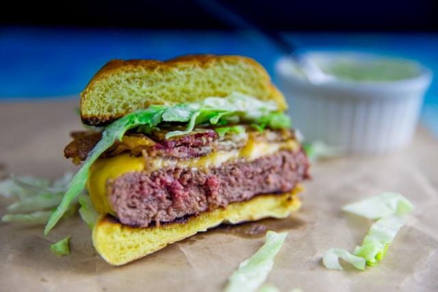 Big Green Egg Cheeseburger Throwdown