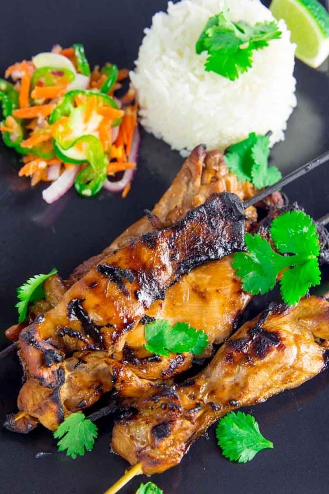 Grilled Filipino Chicken Skewers