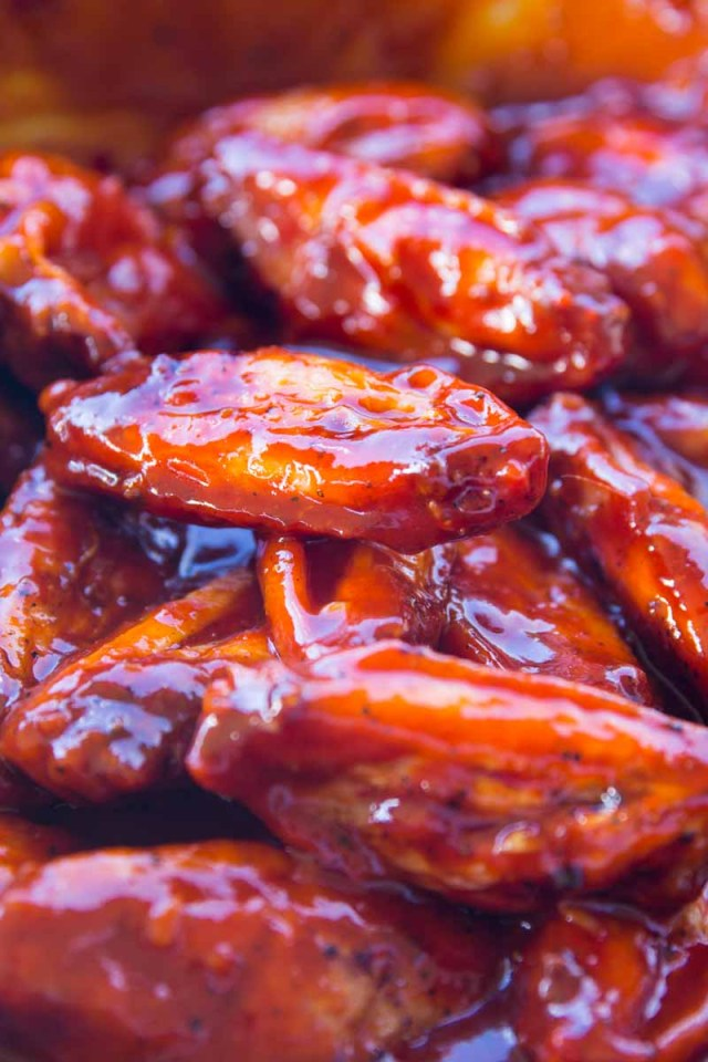 spicy smoked Korean chicken wings