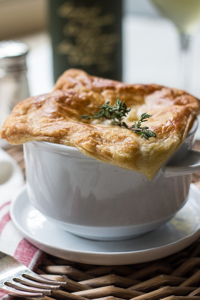 Puff Pastry Topped Chicken Pot Pie