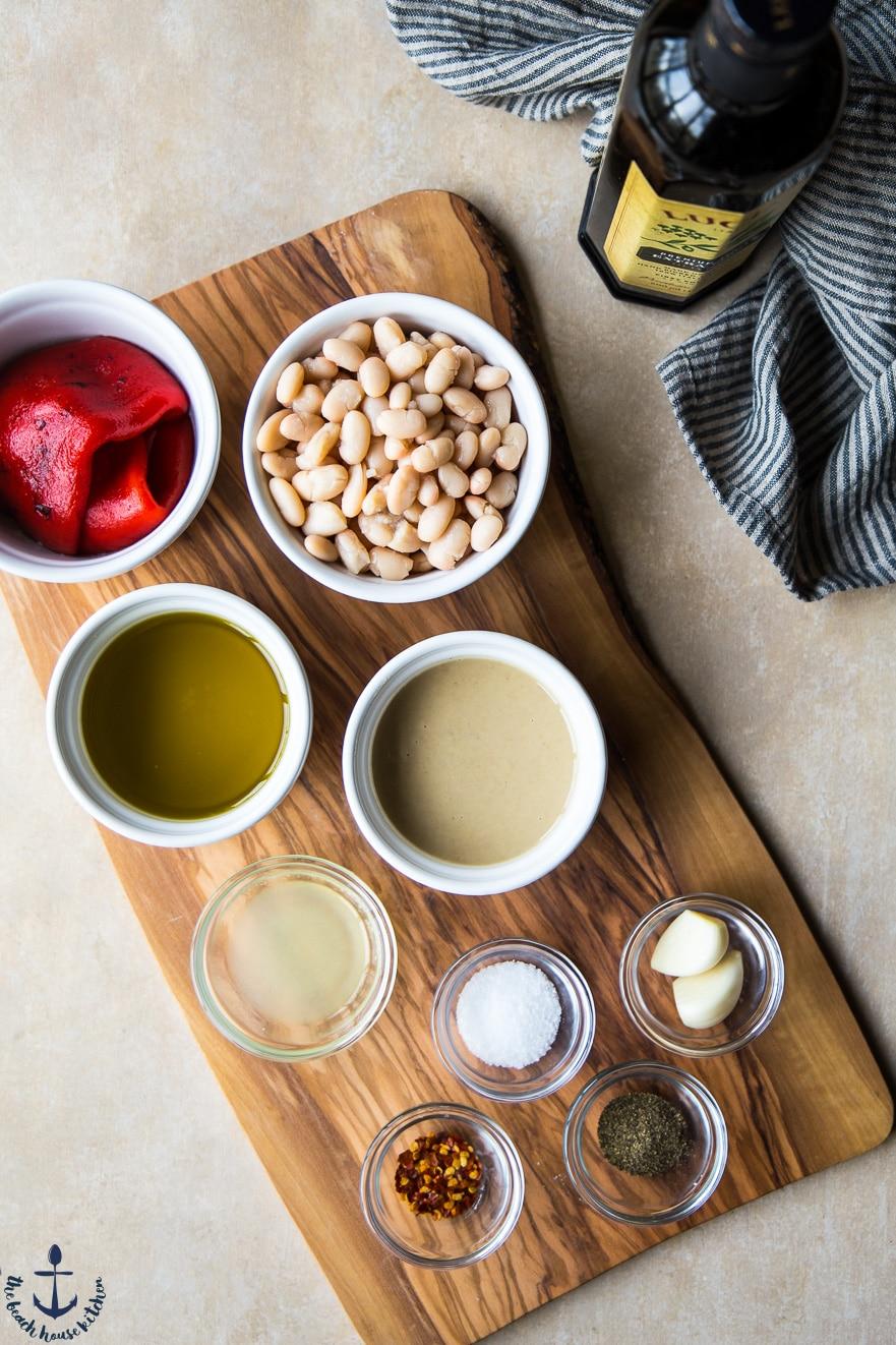 White Bean Roasted Red Pepper Hummus