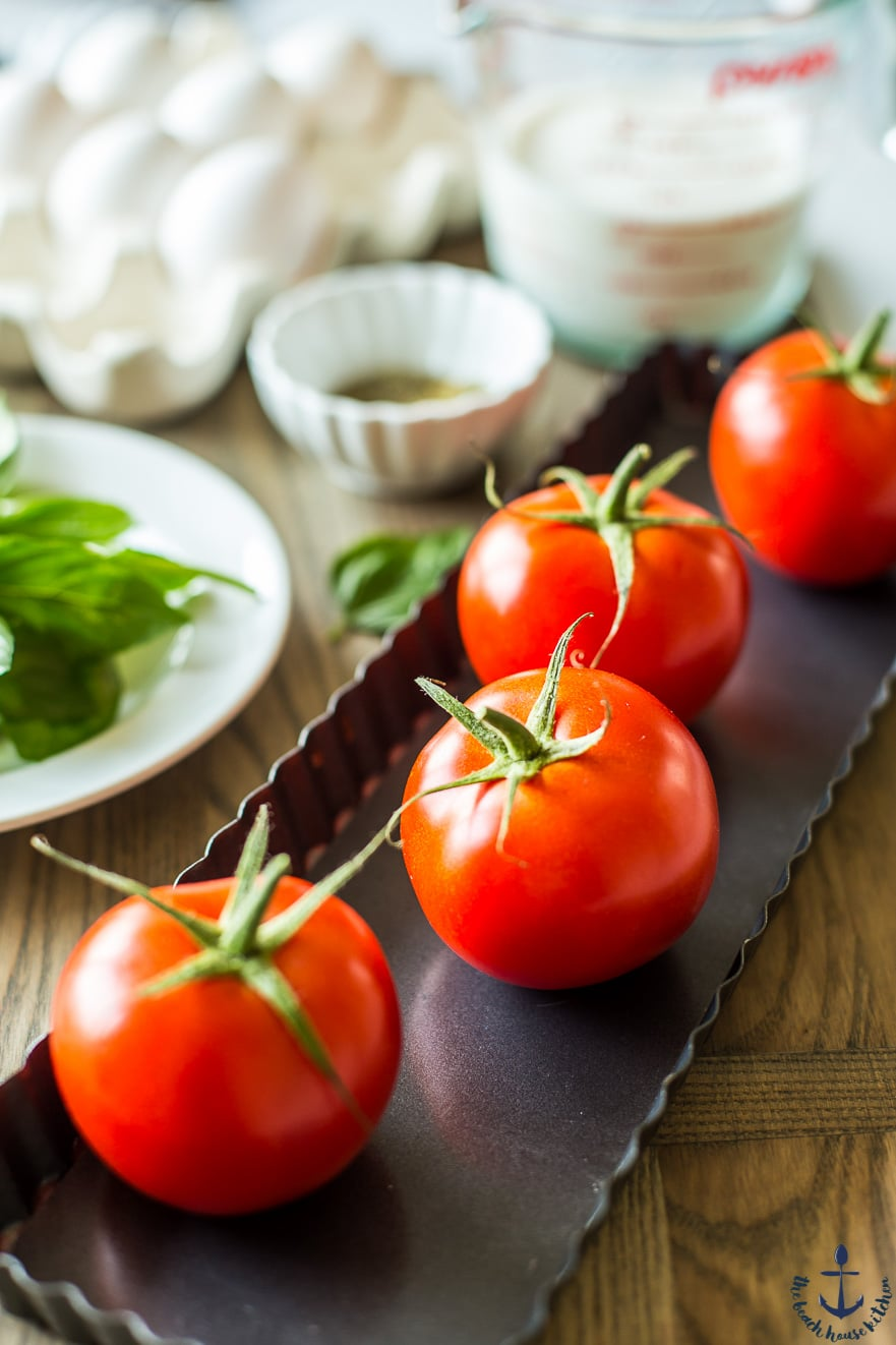 Tomatoes in a tart pan