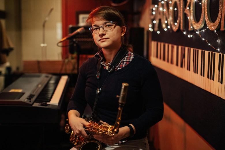 Saxophonist Aryana Nemati at The Piano Room, 8410 Wornall Road, in Kansas City's Waldo neighborhood. Chase Castor/The Beacon