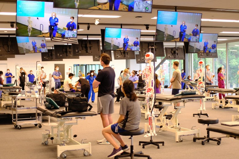 First-year medical students at Kansas City University attend the first day of classes July 29. Courtesy of Kansas City University