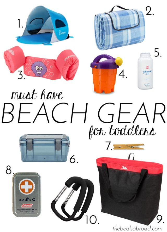 The Beals Abroad | Must Have Beach Gear for Toddlers