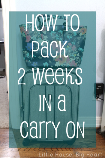 The Beals Abroad | How to Pack 2 Weeks in a Carry On