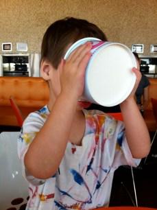 She loves frozen yogurt.