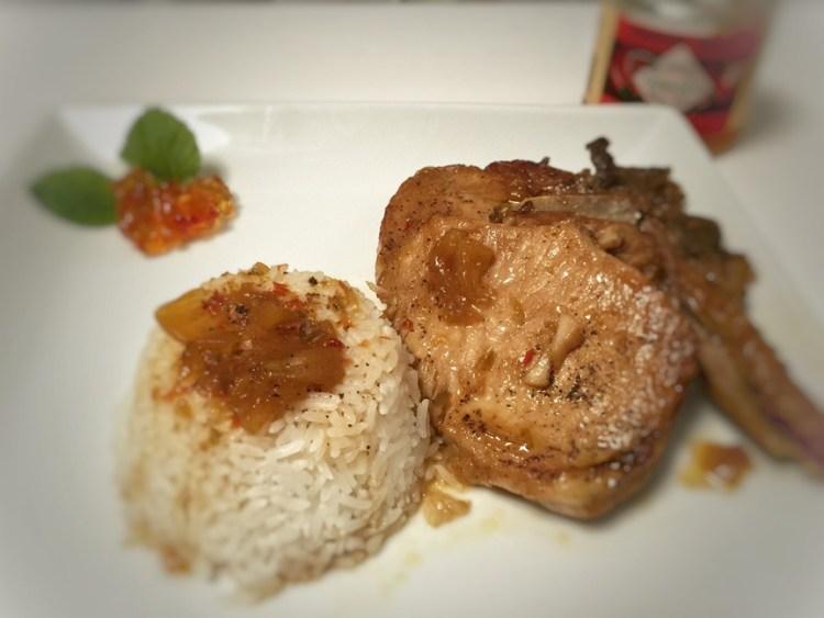 Pressure Cooker Pepper Jelly Pork Chops