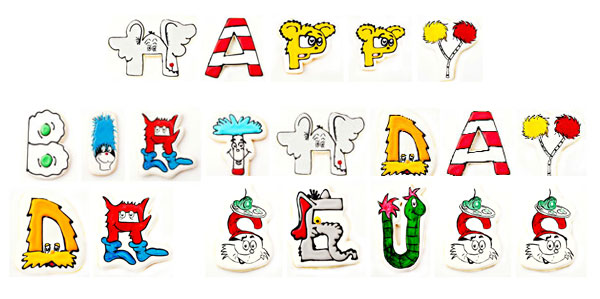Happy Birthday Dr Seuss Cookies The Bearfoot Baker