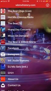 WBMX App
