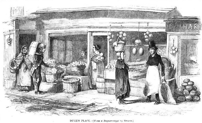 Print of a food-seller's shop