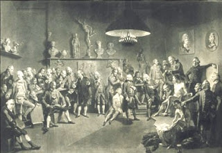 Zoffany's portrait of the members of the Royal Academy