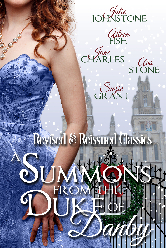 Cover image for A Summons from the Duke of Danby anthology featuring Ava Stone, Aileen Fish, Julie Johnstone, Jane Charles, and Suzie Grant