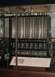Photo of The London Science Museum's difference engine, the first one actually built from Babbage's design.