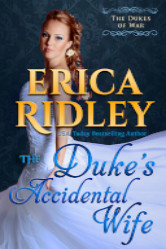 Cover image for THE DUKE'S ACCIDENTAL WIFE by Erica Ridley